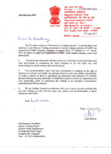 Mr. Atul Karwal Appreciation Letter